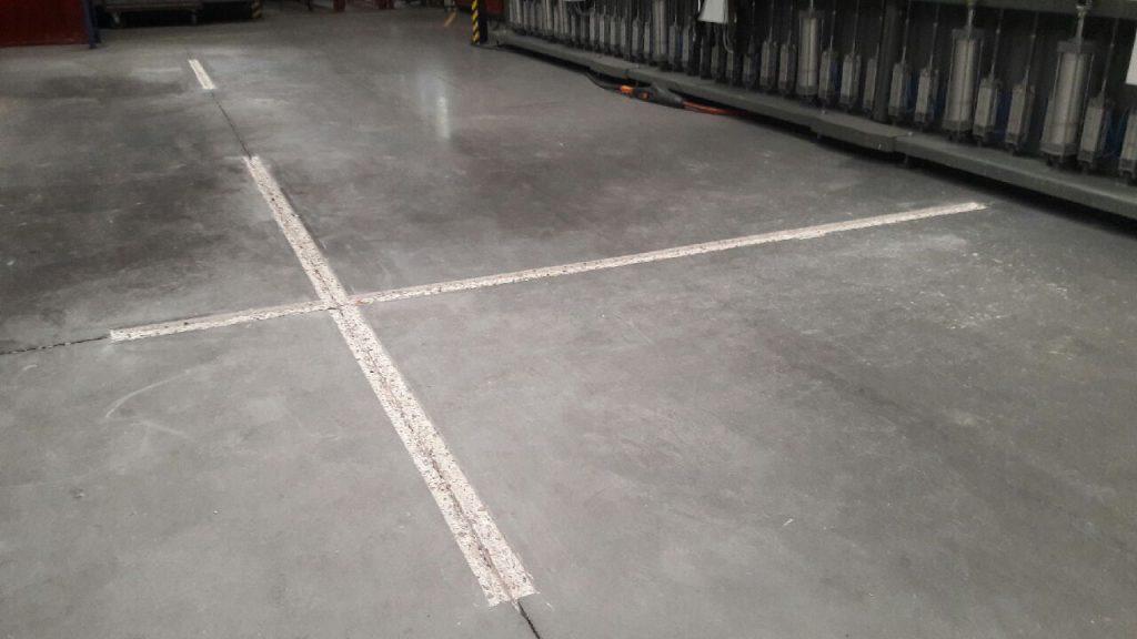 Dylatacja podłogi - odbudowa obu krawędzi dylatacji w posadzce