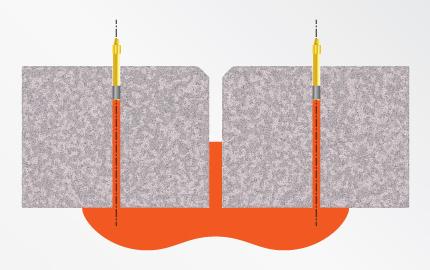Schemat wykonywania podposadzkowej iniekcji ciśnieniowej
