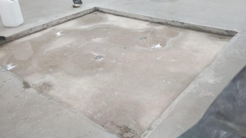 pole do naprawy w posadzce betonowej